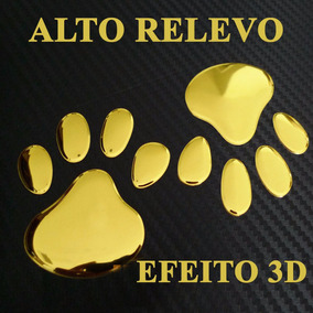 Adesivo Pata Ouro Cromado 3d Carro Moto Note Celu Fretegráts
