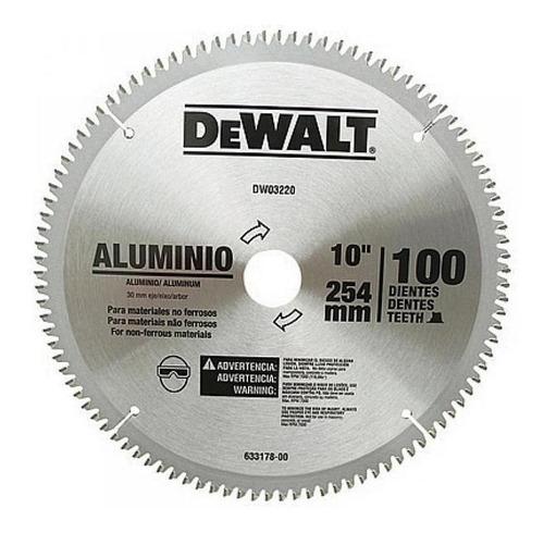 Disco De Serra Para Aluminio 254mm 100d Dwa03220 Dewalt