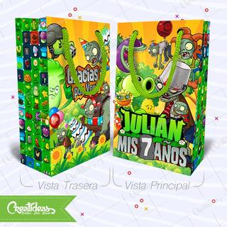 Plantas Vs Zombies Bolsita Golosinera Personalizada Pack X30