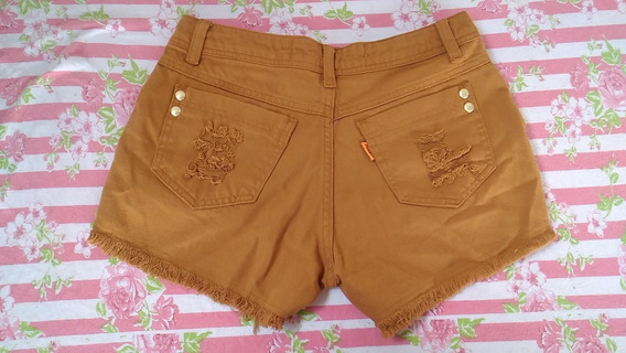 Short Jeans Marrom