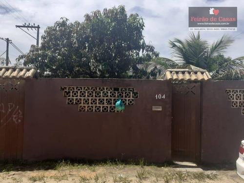 Casa Com 3 Dormitórios À Venda, 80 M² Por R$ 180.000,00 - Samburá - Cabo Frio/rj - Ca0231