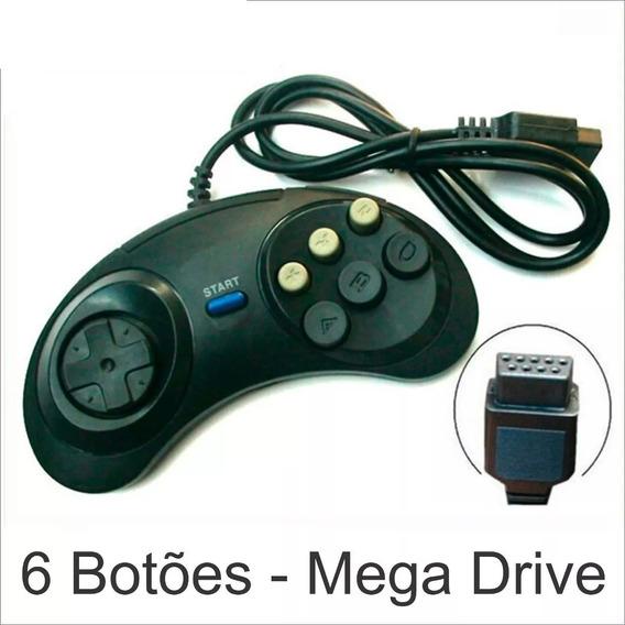 Controle Joystick Mega Drive Master System Sega Tec Toy Novo