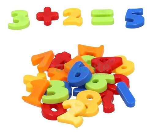 Imagen 1 de 1 de Set De Números Imanados Para Niños
