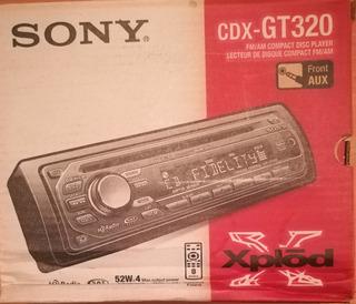 Reproductor Nuevo Sony Explod Cdx-gt320