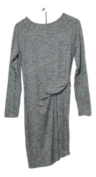 Promo 2x1 Vestido Mini Mujer Casual Jaspeado Gris Talla M