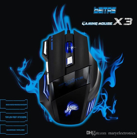 Mouse X3 Gamer - Led Retroiluminado 7 Botões 5500 Dpi Usb