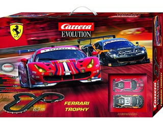 Autorama Set Carrera Evolution 1/32 Ferrari Trophy - 6,3 Mts