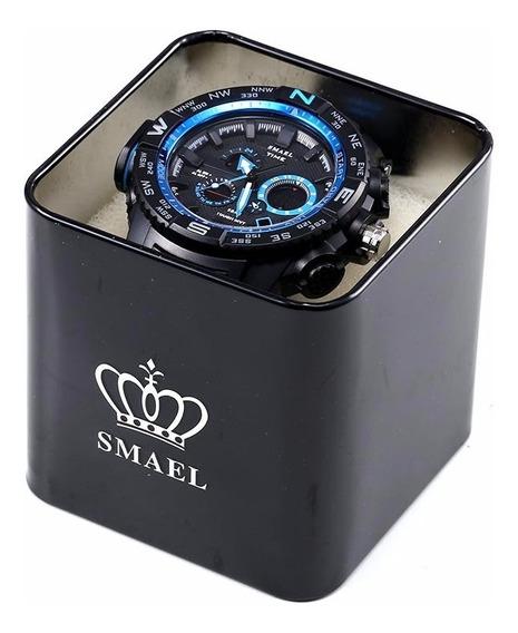 Smael Marca Original Relógio Caixa Esporte Homens Relógio Me