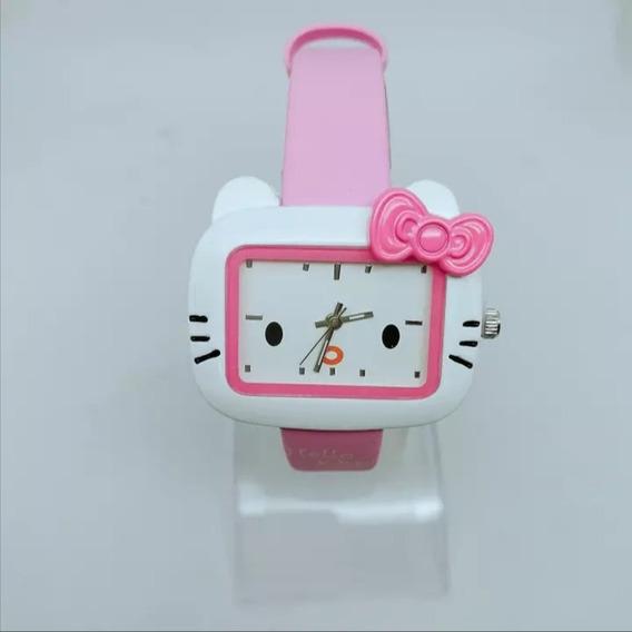 Relógio Feminino Pulso Hello Kitty Infantil Criança Adulto