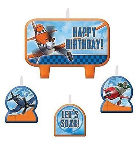Imagen 1 de 1 de Amscan  Disneyplanes 2 Fiesta De Cumpleaños Moldeado Vela D