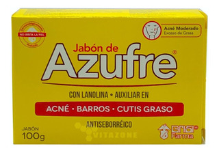 Jabón De Azufre Con Lanolina 100 Grs Grisi Antiseborréico
