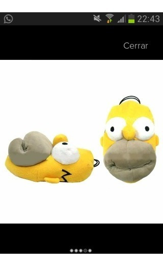Pantuflas De Homero,krosty, Minionsel Regalo Perfecto