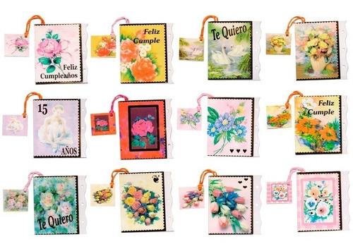 Imagen 1 de 10 de Minicards X 60 Tarjetitas Para Regalo Tarjetas Con Sobre