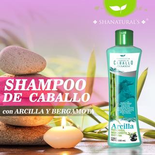 Shampoo Caballo Detox De Arcilla De Shanaturals