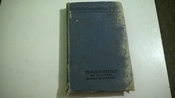 Raridade Livro Antigo De Gramàtica Inglesa De 1917