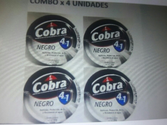 Pomada Para Zapatos Cobra X 4 - Negro