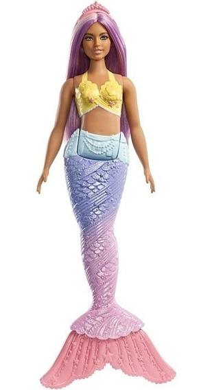 Boneca Barbie Dreamtopia Sereia Morena Cabelo Roxo - Mattel