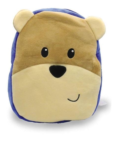 Mochila Escolar Infantil Masculina Meninos Urso Mp1829