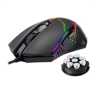 Mouse Gamer Redragon M601-rgb Centrophorus, 7200dpi, 8 Pesas