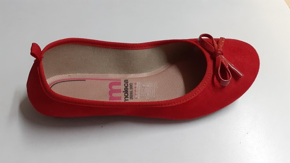Sapatilha Moleca 5314.506 Vermelho Camurca Flex
