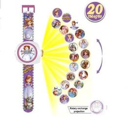 Relógio Brinquedo Infantil Princesa Sofia Projeta 20 Imagens