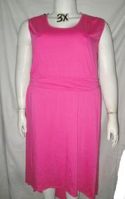 Vestido Largo Rosa Asimetrico Talla 3x Xhilaration