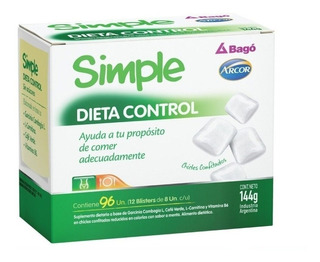 Simple Chicles Dieta Control 96un Bagó Arcor