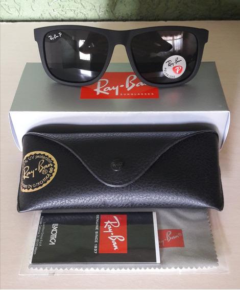 Óculos Ray Ban Justin Rb4165 Polarizado Original Importado