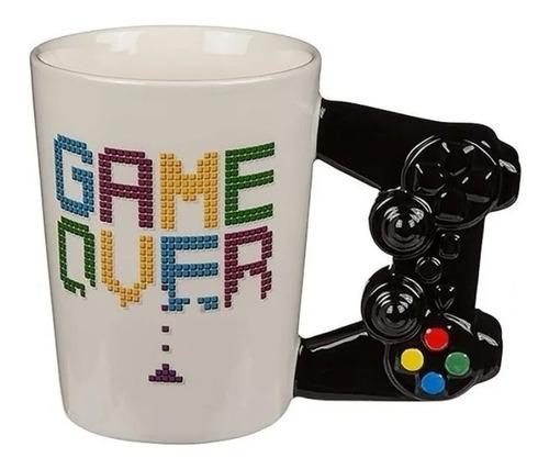 Imagen 1 de 5 de Taza Tazon Gamer De Ceramica Game Over Control Ps / Lhua