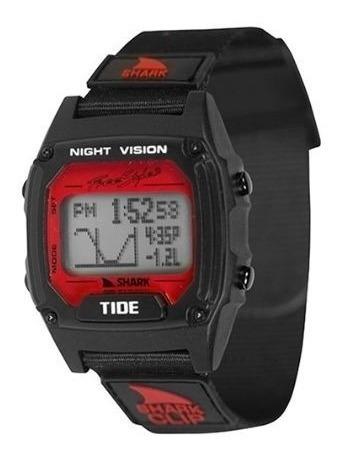 Relógio Shark Classic Clip Tide-preto/vermelho