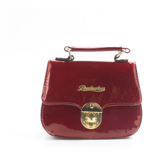 Bolsa Feminina Clutch Transversal Couro Sint Verniz Bll2242