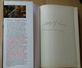 Mario Vargas Llosa. Libro Autografiado: El Héroe Discreto