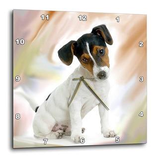 Reloj De Pared Jack Russell Terrier, 10 Por 10 Pulgadas