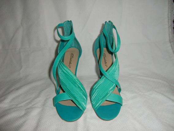 Sandalias Elegante Dama No.39 Verde Agua