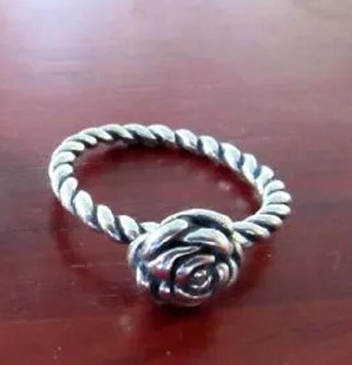 Anel Aliança Estilo Pandora Rosa Aro 13 14 15 16 20