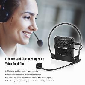 Takstar E126 8w Tamanho Mini Recarregável Amplificador Voz A