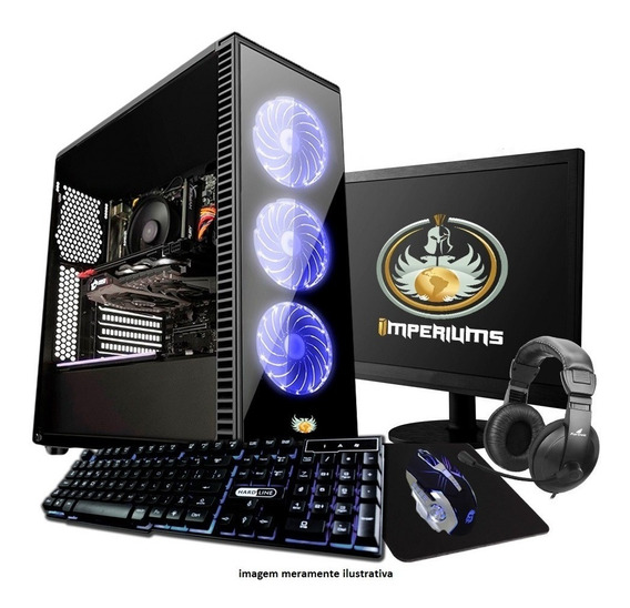 Pc Completo Gamer Cpu Intel Core I5 , 8gb, Gtx 1050ti Lcd 19
