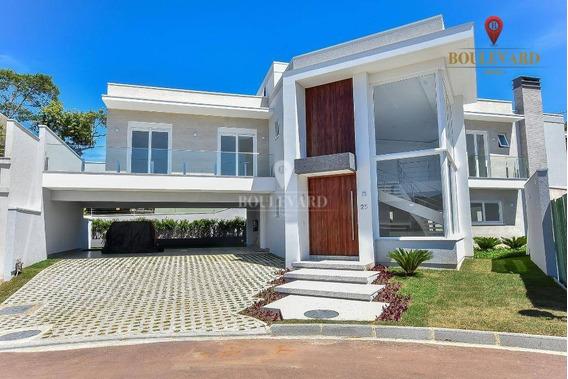Casa Com 5 Dormitórios À Venda, 425 M² Por R$ 3.600.000,00 - Santa Felicidade - Curitiba/pr - Ca0174