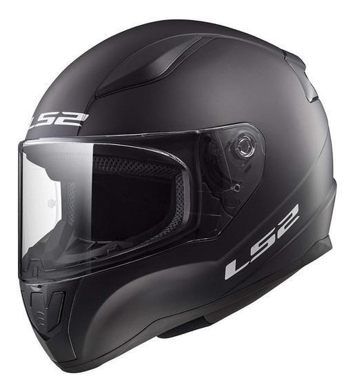 Casco para moto integral LS2 Rapid Solid matt black talle S