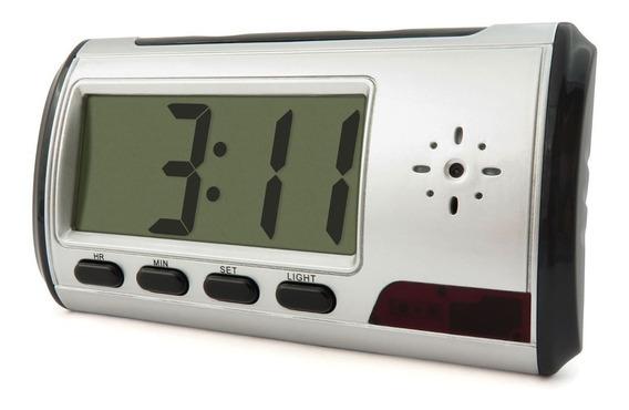 Relógio Despertador Espião Micro Câmera Escondida Mesa
