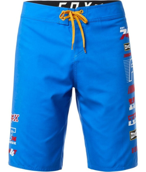 Short Baño Malla Fox Unighted Boardshort Azul Solomototeam