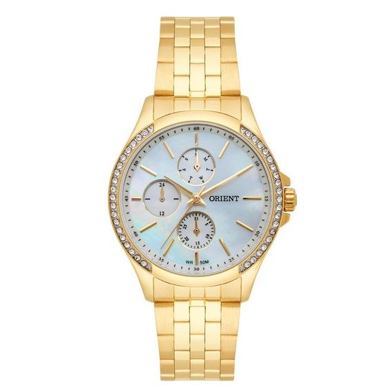 Relógio Orient Feminino Dourado Multifunção Fgssm051 B1kx