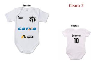 Body Bebé Personalizado Times De Todo O Brasil Escolha O Seu