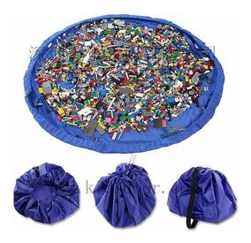 Saco Organizador De Brinquedos - Guardar Lego - Azul 1,50m