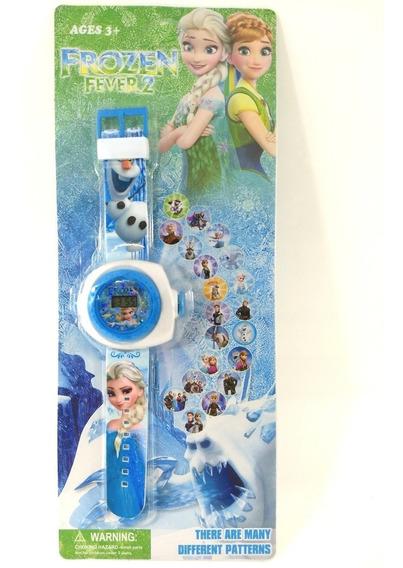 Relógio Infantil Frozen Projetor De Figuras Promoção!!