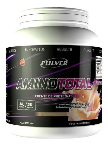 Imagen 1 de 2 de Amino Total 2 Kg Pulver Sin Tacc Aminoácidos Proteína 36 Grs Ideal Dieta Bariátrica Masa Muscular Rendimiento