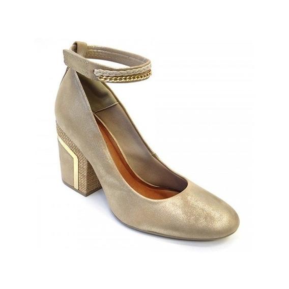 Sapato De Camurça 50974002 Crysalis (02) - Ouro