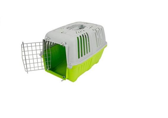 Transportadora Perro Gato Pratiko 2 Puerta Metal 55x36x36
