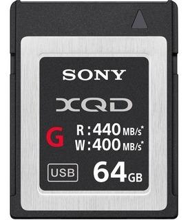 Tarjeta De Memoria Sony 64gb Xqd Serie G Velocidad De Trans