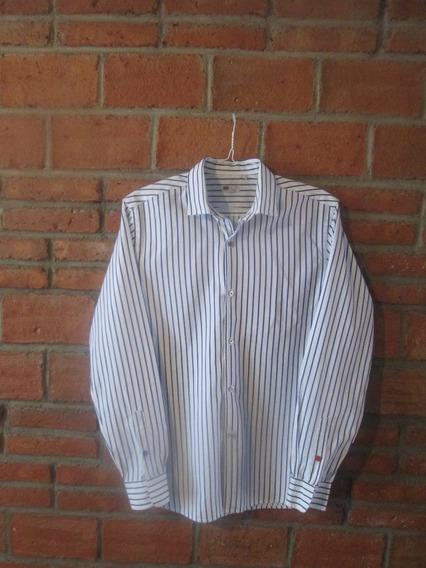 Bonita Camisa Italiana D Moda Importada, En Perfecto Estado